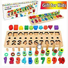 Wooden Number Puzzle Sorting Montessori Toys
