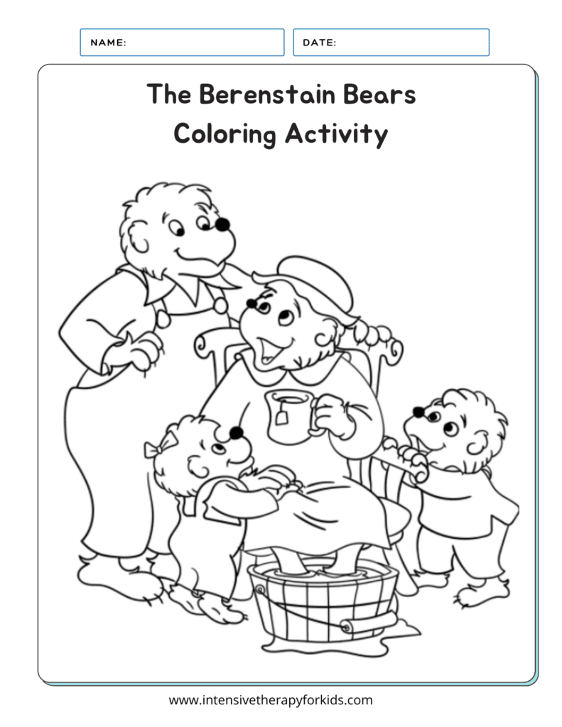 The-Berenstain-Bears-Coloring-Activity