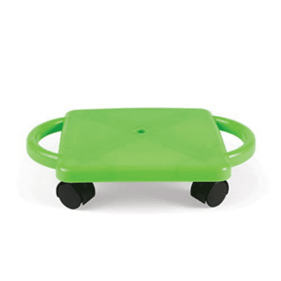 Green-Indoor-Scooter-Board-with-Safety-Handles